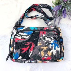 Vera Bradley Little Hipster Splash Floral Bag
